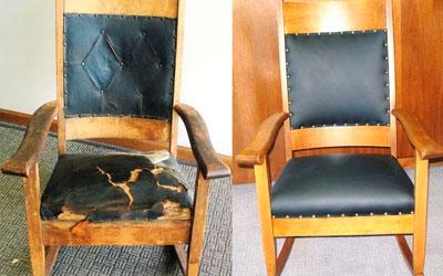 Перетяжка сиденья и спинки стула